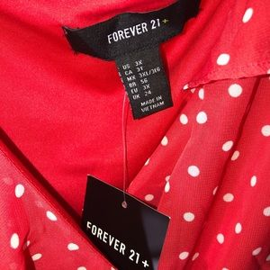 Forever 21 Dresses - 3/$25 Plus Size Polka Dot Mini Dress